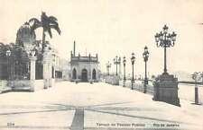 Rio de Janeiro Brazil view of Terraco do Passeio Publico antique pc Z23948