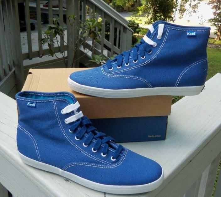 Keds Women's Bright bluee Champion High Casual shoes SIZES  NIB WF34230