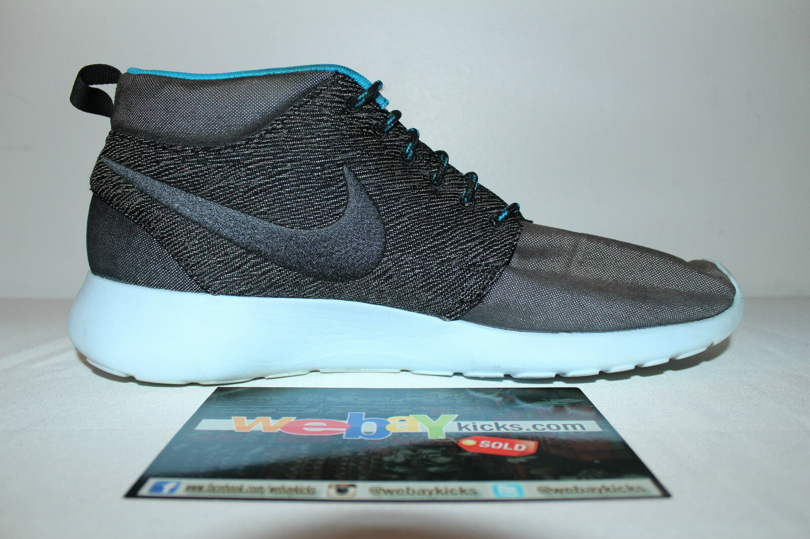 buy popular 8cdd2 e50af ... Nike Air Roshe Run Mid Paris Blue Gray Gray Gray Grey Sneakers Men s  Size 12 Used ...