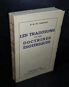 H.-M. de Campigny : Les Traditions et les Doctrines Esotériques