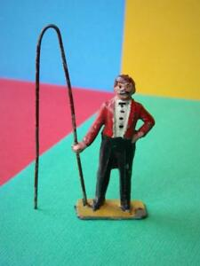 CHARBENS-RARE-PRE-WAR-VINTAGE-LEAD-CIRCUS-RING-MASTER-IN-RED-WITH-WHIP