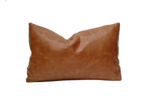 Sheepskin 100/% Leather Handmade Cushion Pillow Cover Sofa Bed Decorative Tan