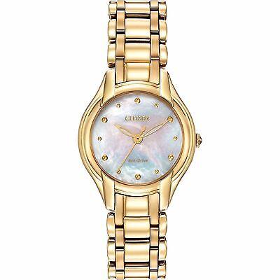 Citizen Eco-Drive Women's EM0282-56D Silhouette Gold Tone Watch
