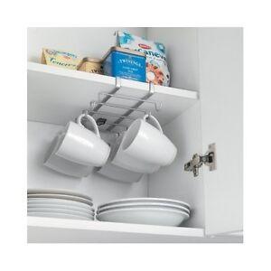 under shelf cup holder coffee mug kitchen storage rack cupboard organizer hooks ebay. Black Bedroom Furniture Sets. Home Design Ideas