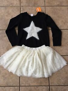 a7b1f91d567 NWT Gymboree Starry Night Star Black Sweater and Tulle Tutu Skirt ...
