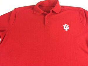 Indiana Hoosiers Polo Shirt Mens XL Red USA Made Student Alumni Varsity Graduate