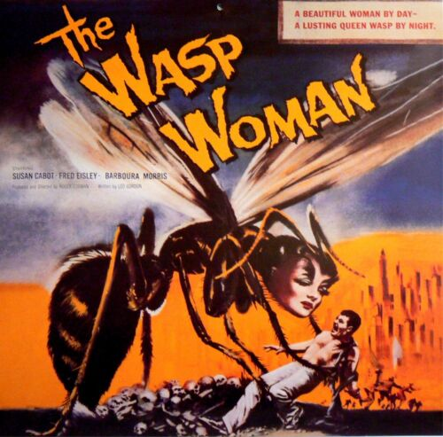 The Wasp Woman OLD MOVIE POSTER Canvas Box// Photo// Art Print