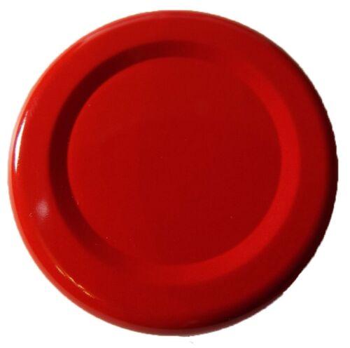 500 Stück X To 43 mm Rot Schraubdeckel für Gläser • Twist Off Deckel Verschluss