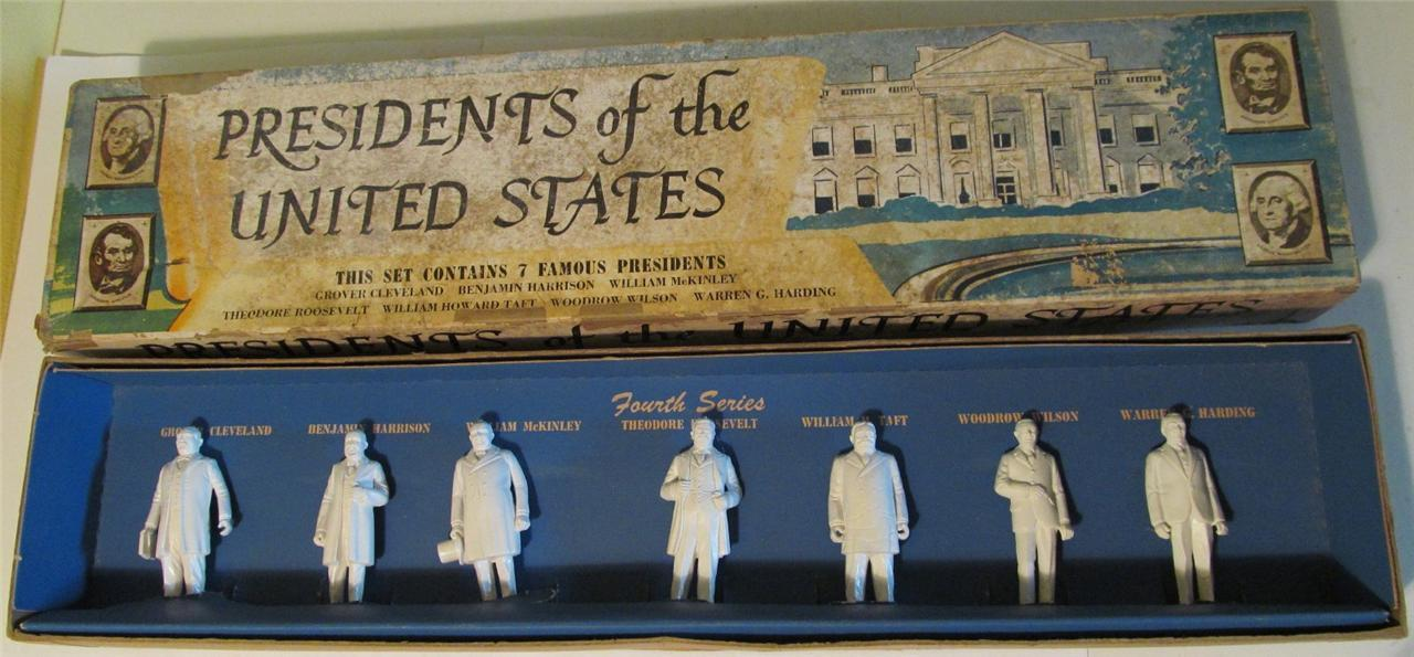 Marx 7 Presidents of the United States, Fourth Series, Roosevelt, Taft, Wilson +