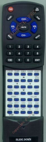 42XR4 Replacement Remote for NEC PX50XM5A PX61XM4A RP115 PX61XM4
