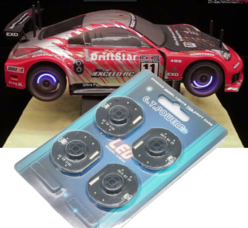 1//10 Rc Drift Car Blue Disc Wheel Led Lights For Yokomo Mst Sakura Tamiya Hpi