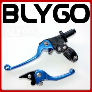 BLUE-CNC-Heavy-Duty-Clutch-Brake-Lever-Set-125cc-150cc-PIT-PRO-TRAIL-DIRT-BIKE