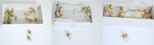 12 x Bridal Assorted Size Yellow Bumble Bees Table Favours Decor Wedding Decor