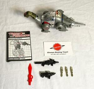 1985 Sludge w/ Booklet Complete G1 Transformers Dinobot Figure
