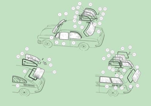 VW Tipo 3 LUNOTTO GUARNIZIONE solo 63-74 T3 Notchback per OE C TRIM