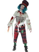 Zombie Mad Hatter Halloween Horror Fancy Dress Costume Size Large P9656
