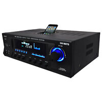Pyle Pro Pt270aiu 300w Home Amplifier Receiver Stereo Ipod Dock Am/fm Usb/sd on Sale