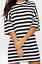 Womens-Stripe-Oversized-Boyfriend-T-Shirt-Dress-Casual-Tee-Baggy-Loose-Long-Tops thumbnail 49