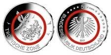 """5 EURO mit Polymerring rot """"Klimazonen -Tropische Zone""""BRD 2017 Mzz. meiner Wahl"""