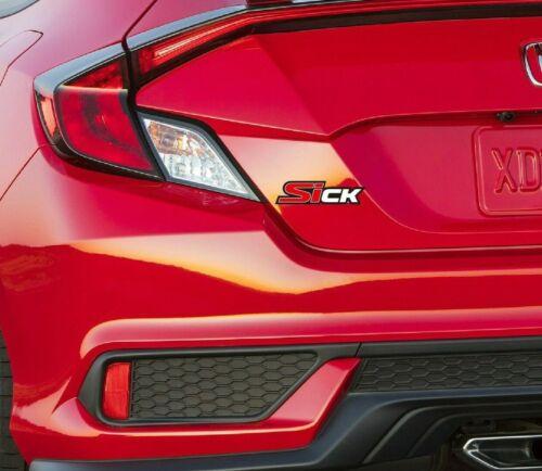 2 SICK funny sticker Vinyl Graphic Decals Car Civic SI JDM Turbo racing Rims