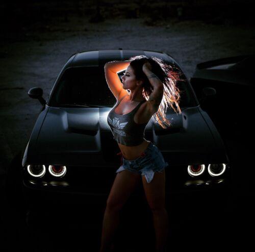 Merrick Motorsports Mopar Girl /& Dodge Challenger Poster MANCAVE HELLCAT