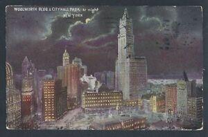 1910 NEW YORK CITY AT NIGHT, Beautiful Postcard