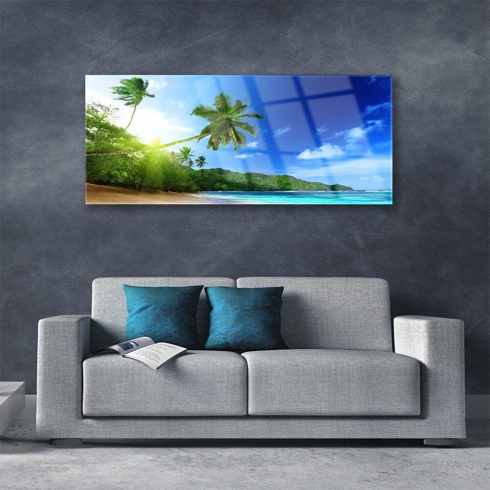 Acrylglasbilder Acrylglasbilder Acrylglasbilder Wandbilder aus Plexiglas® 125x50 Strand Meer Palmen Landschaft 77b4c3