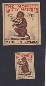 Ancienes étiquettes allumettes Suède BN58178 Singe P1mYTeWz-08063116-496460639