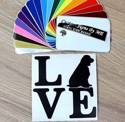 Love Cocker Spaniel Dog Sticker Vinyl Decal Adhesive Wall Door Window Laptop BLC