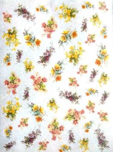 Rice Paper for Decoupage Decopatch Scrapbooking Sheet Craft Vintage Little Flo 3