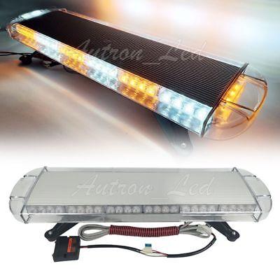 "30/"" Inch Lightbar 56W LED Strobe Emergency Beacon Truck Warn Rooftop Amber White"