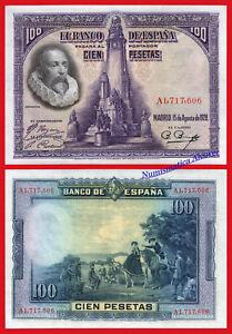 ESPANA-SPAIN-100-Pesetas-1938-Cervantes-Pick-76-SC-UNC