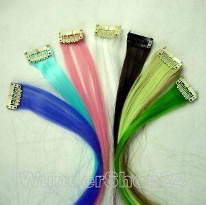 Bunte-Haarverlaengerung-mit-Clip-Extensions-Haarstraehnen-ca-65cm-lang-Kunsthaar