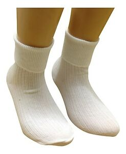 3 Pairs Baby Bow in Cream Girl Frilly Lace Turn over Top Ankle Socks