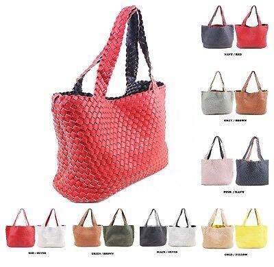 New Womens Laser Cut Tote Hobo Shopper Crossbody Shoulder Handbag Smaller Bag