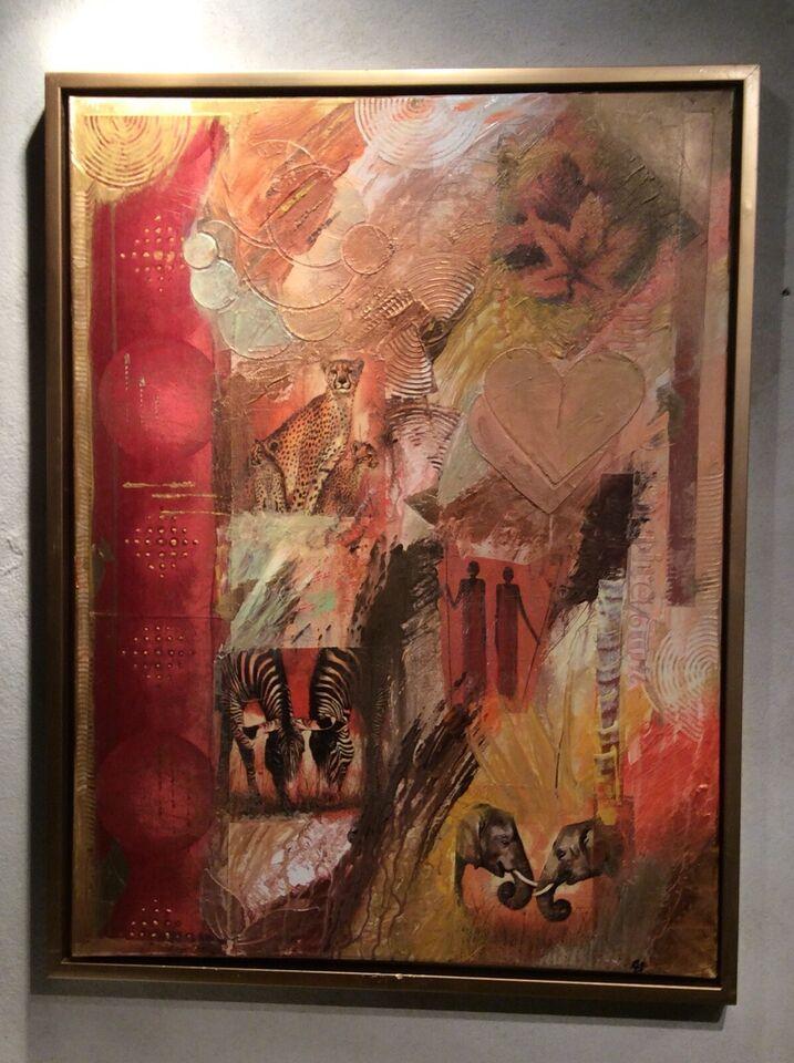Akrylmaleri, B.Gram, motiv: Dyr