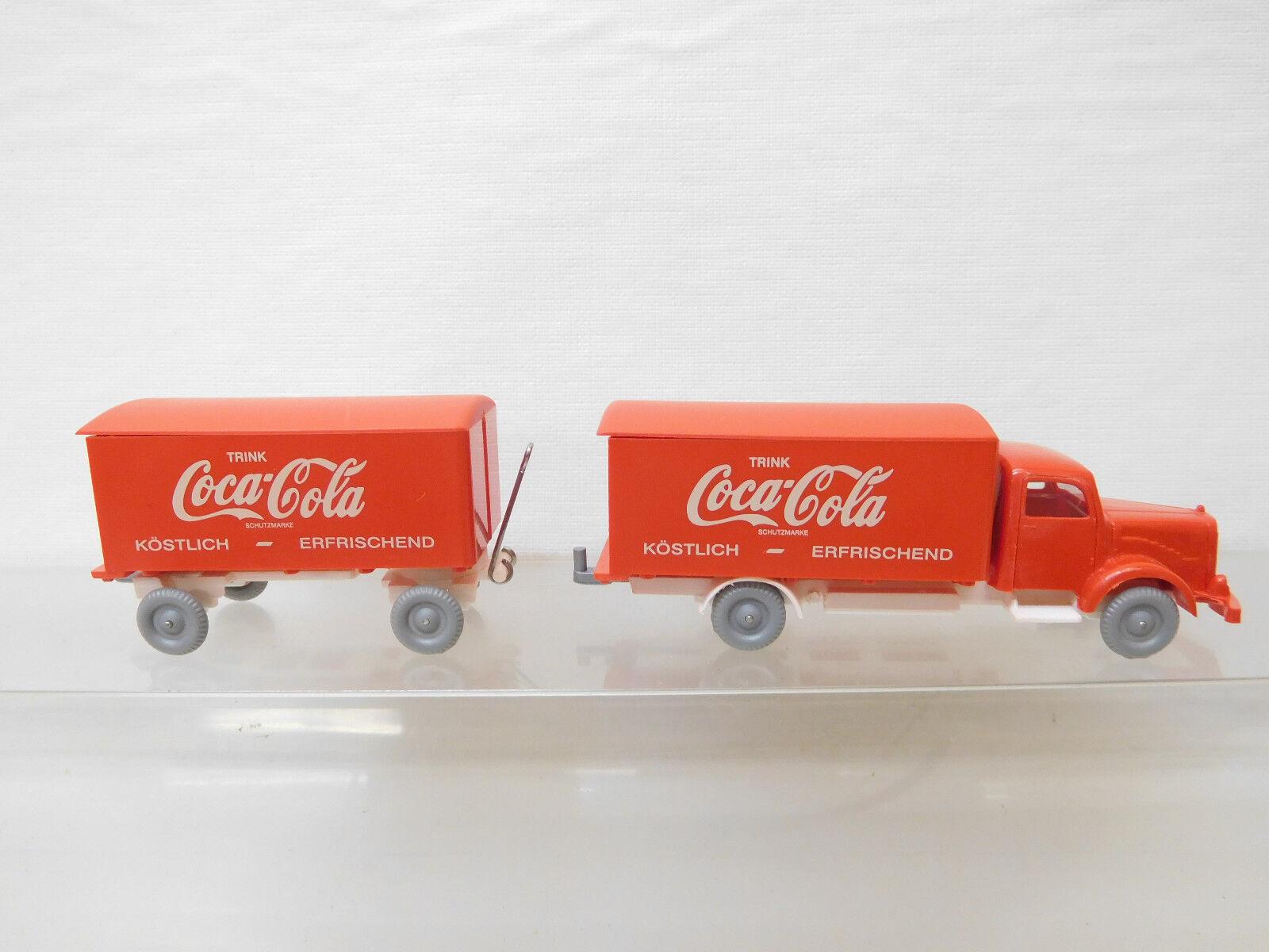 Eso-5069 IMU 1 87 Mercedes LKW Coca Cola sehr sehr sehr guter Zustand,Führerhaus red, d2cbfa