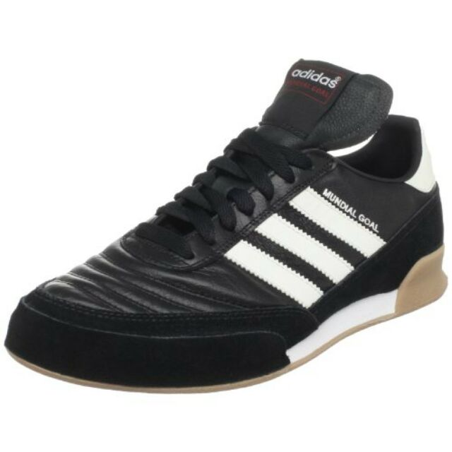 81958efbab adidas Mundial Goal 019310 Black white Mens Indoor Soccer Shoes Size ...