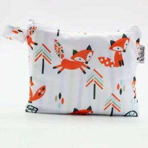 Small-Waterproof-Wet-Bag-with-Zip-19-x-16cm-Fox-Design