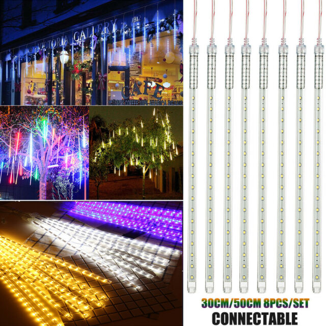 7 PCS WHITE ICICLE LIGHTS 384 LED SNOWING EFFECT CHRISTMAS STRING FAIRY LIGHTS