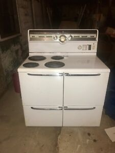 Image Is Loading Vintage General Electric Stove 1951 Double Oven