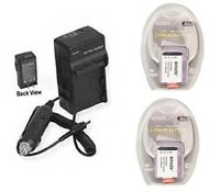 2x Batteries + Charger For Sony Hdras100v/w Hdras100vr/w Hdrcx240/l Hdrcx240/b
