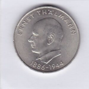 20 Mark Ddr 1971 Ernst Thälmann 1886 1944 Nickel J1535 Ebay
