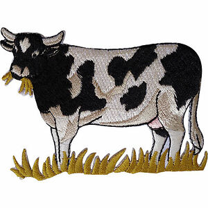 Cow-Patch-Embroidered-Iron-Sew-On-Clothes-Badge-Farm-Animal-Embroidery-Applique