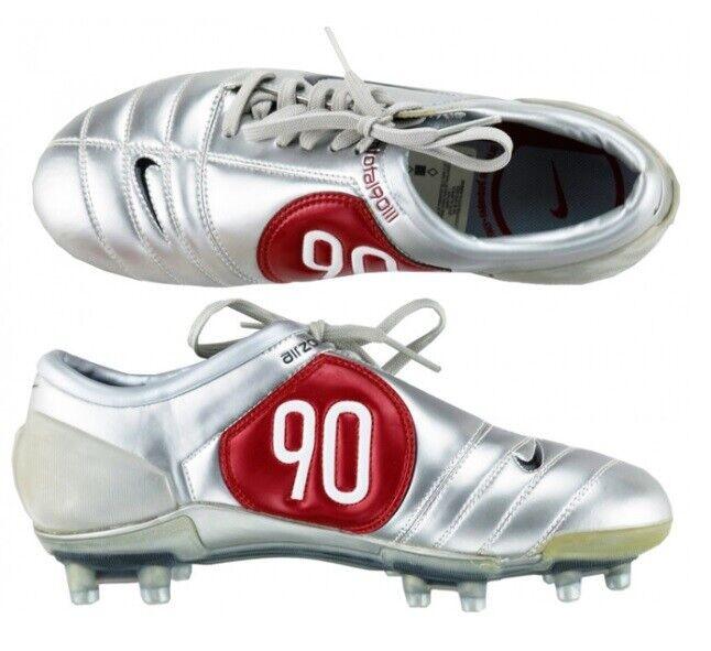 Nike Air Zoom Total 90 III Fg T90 Pista Dura Fútbol Zapatos Cromo   Negro Rojo