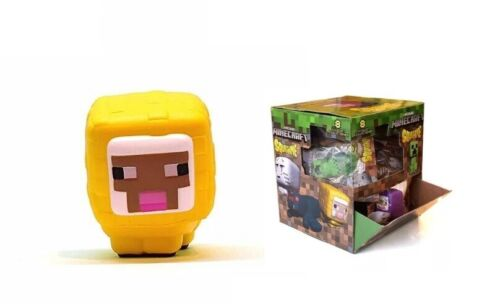NEW SCENTED MINECRAFT YELLOW SHEEP SQUISHME AUTHENTIC LICENSED Squishy