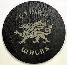CYMRU / DRAGON / WALES  design crafted WELSH SLATE PAN STAND,   Cymru/ Wales