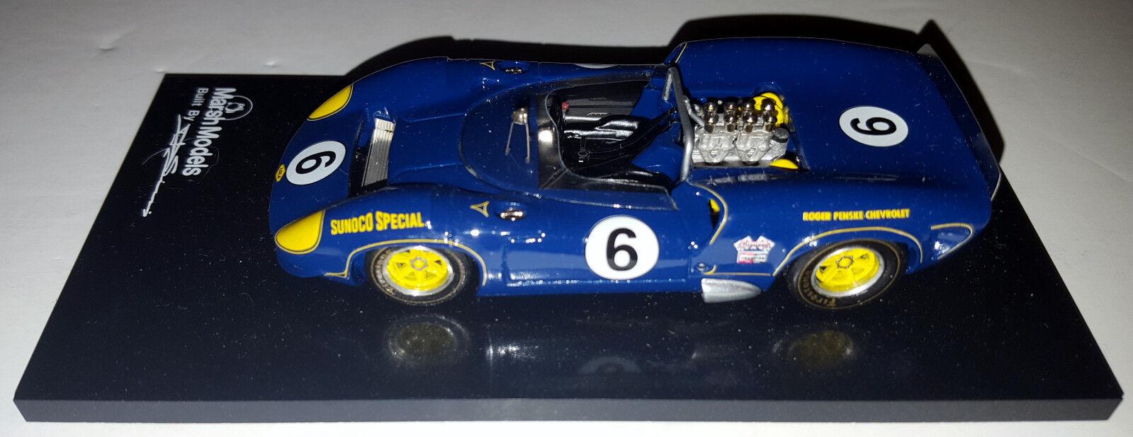 Marsh Models Built  MM24B 1 43 1966 Can Am Lola T70 Mk.II Sunoco Mark Donohue