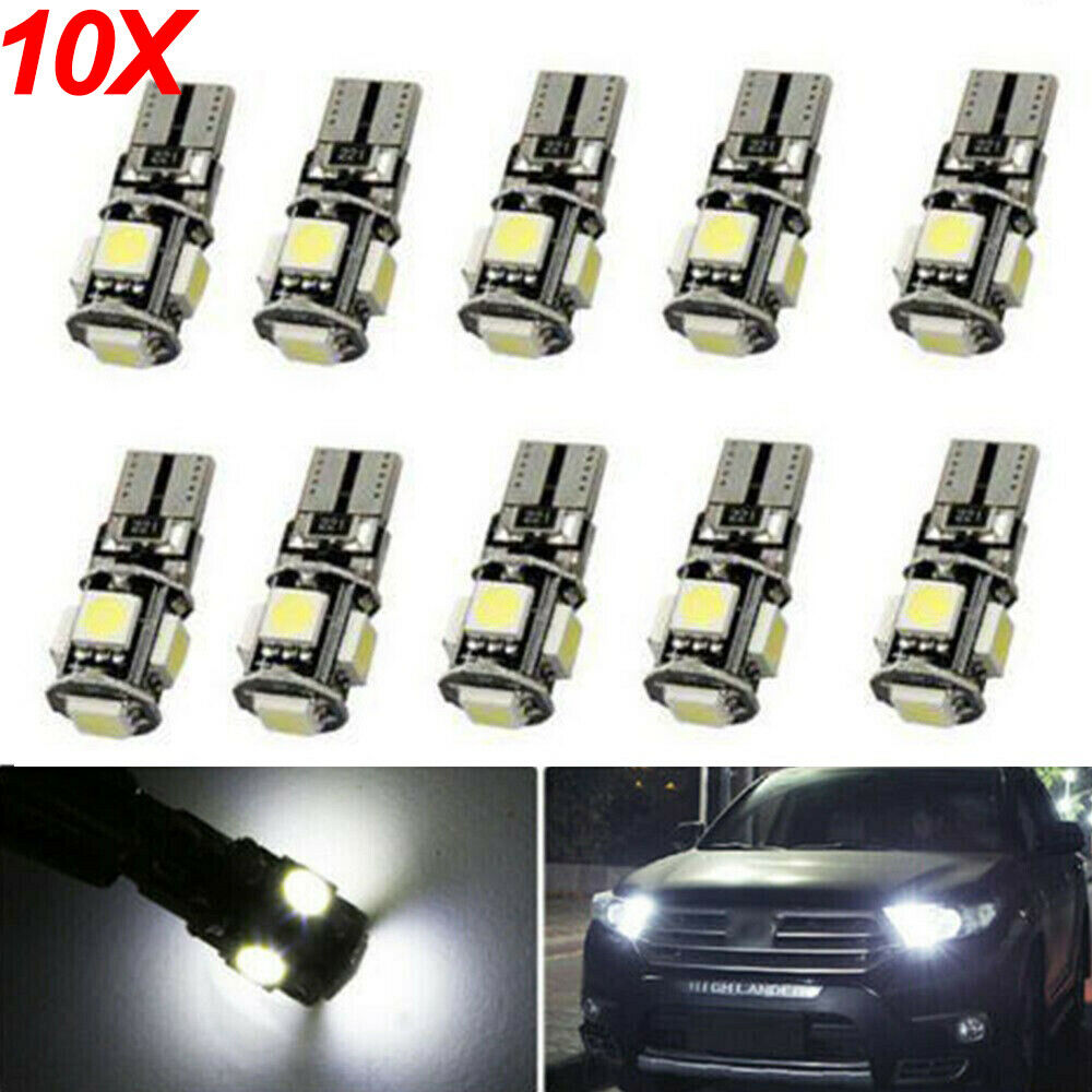 20X Auto 5 SMD LED T10 Lampe weiß CANBUS Standlicht Innenraum 12V DE