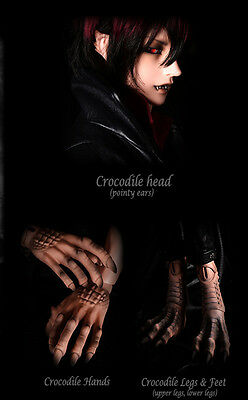 The Ticking Crocodile free eyes face make up bjd sd fantasy doll Captain Hook